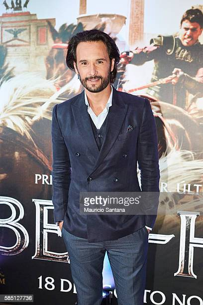 Rodrigo Santoro attends the Brazil Premiere of the Paramount Pictures film 'BenHur' on August 1 2016 at Cinepolis JK in Sao Paulo Brazil