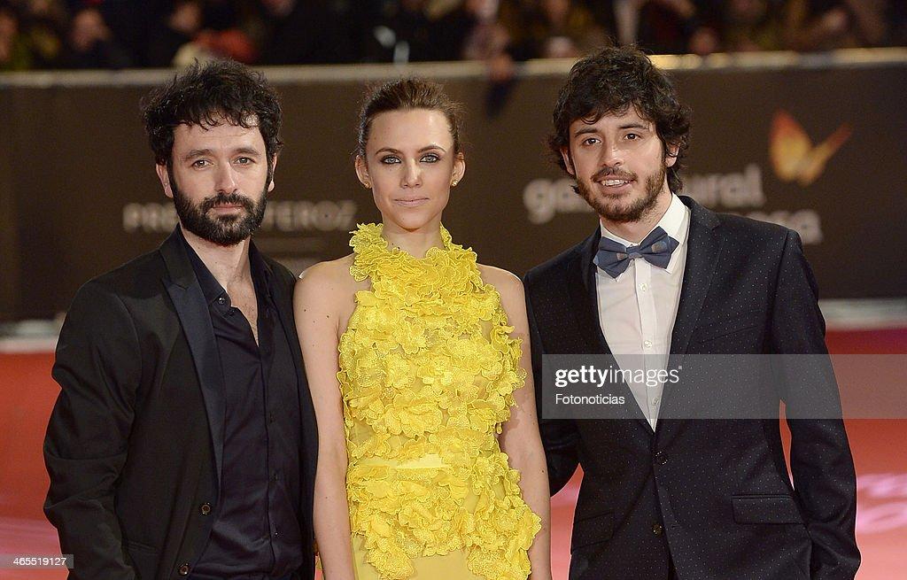 Rodrigo Sorogoyen, Aura Garrido and Javier Pereira attend 'Feroz Awards 2014' at Callao Cinema on January 27, 2014 in Madrid, Spain.