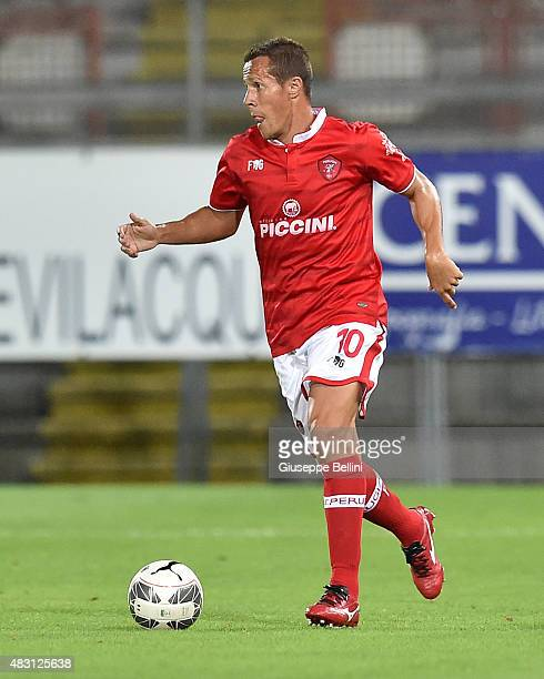 Rodrigo Taddei of Perugia in action during the preseason friendly match between AC Perugia and Carpi FC at Stadio Renato Curi on August 1 2015 in...