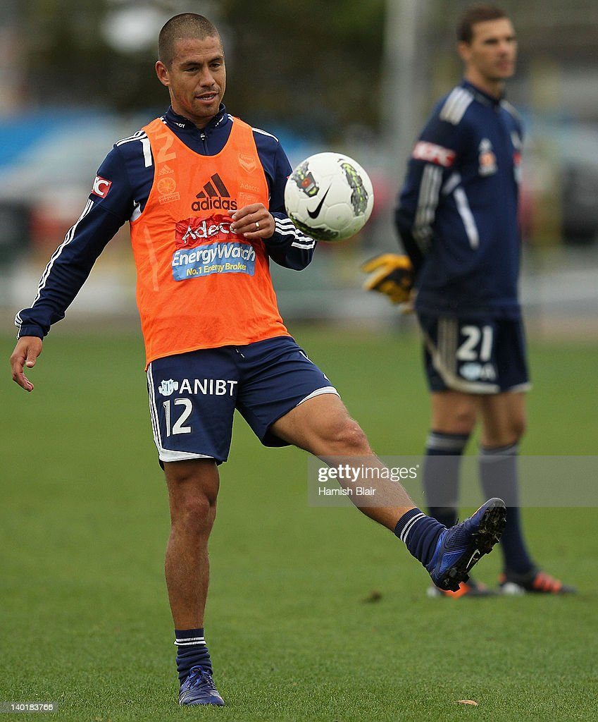 <a gi-track='captionPersonalityLinkClicked' href=/galleries/search?phrase=Rodrigo+Vargas&family=editorial&specificpeople=793290 ng-click='$event.stopPropagation()'>Rodrigo Vargas</a> in action during a Melbourne Victory A-League training session at Gosch's Paddock on March 1, 2012 in Melbourne, Australia.