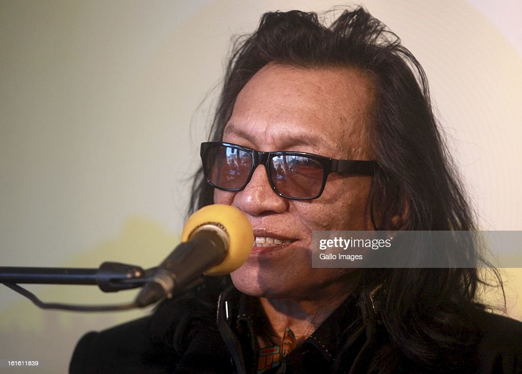 Rodriguez at the Primedia offices on February 11, 2013, in Cape Town, South Africa. Rodriguez is on tour in South Africa, performing in both Cape Town and Johannesburg.