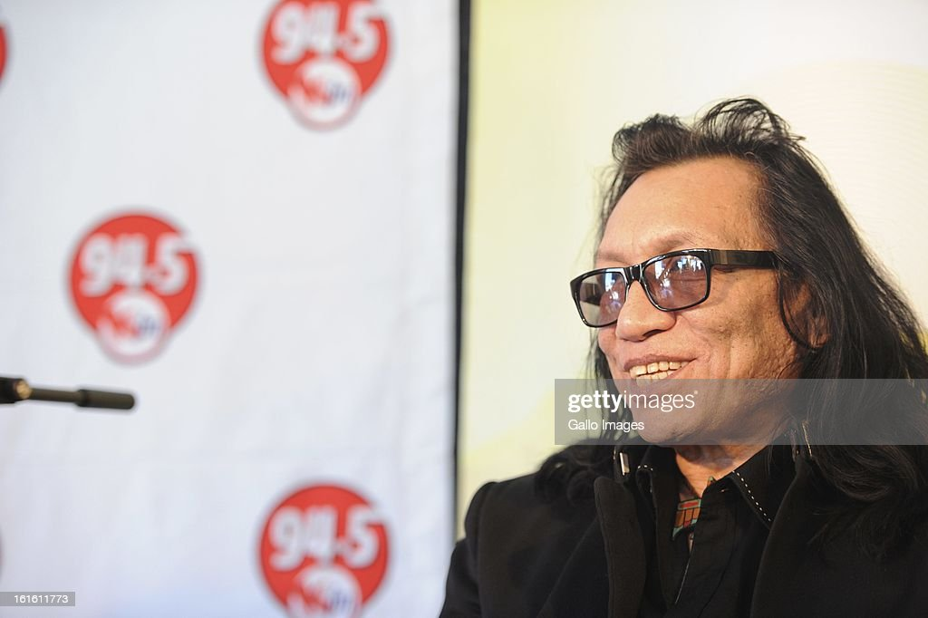 Rodriguez during a press conference at the Primedia building on February 11, 2013, in Cape Town, South Africa.