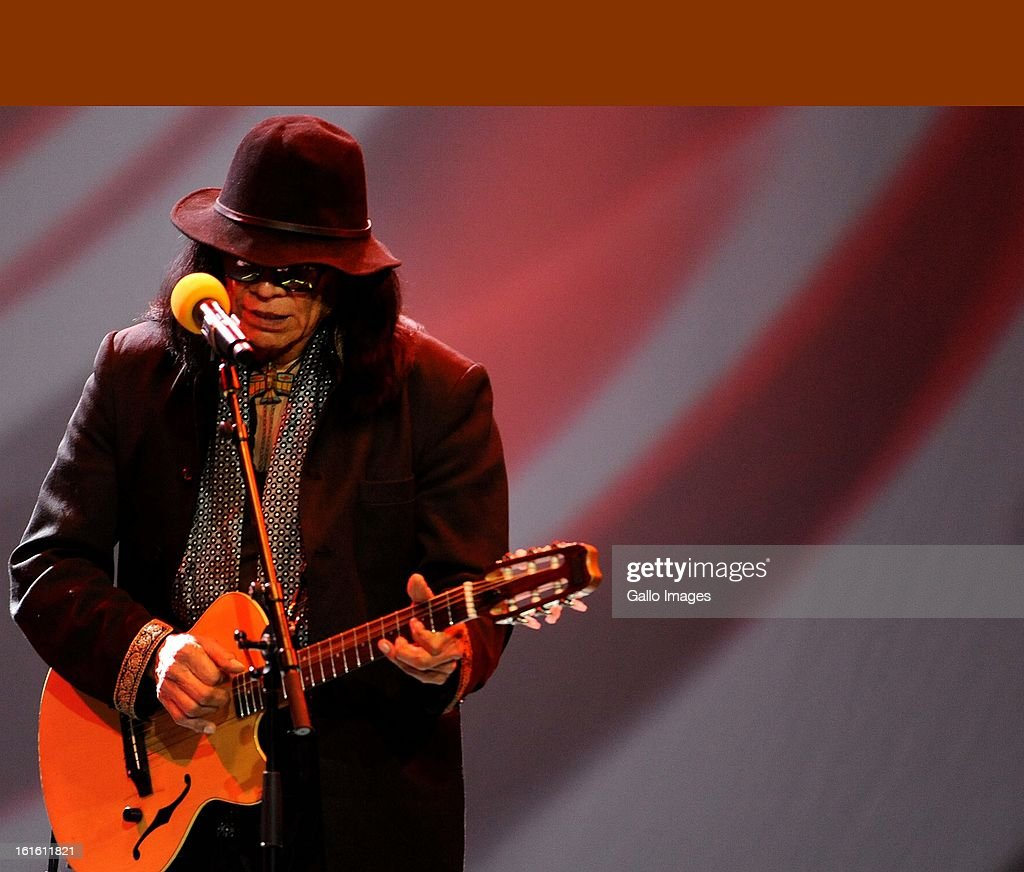 Rodriguez performing at Carnival City on February 12, 2013, in Johannesburg South Africa..