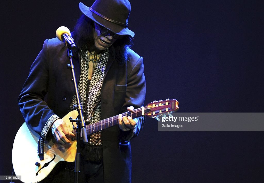 Rodriguez performing at Carnival City on February 12, 2013, in Johannesburg South Africa.
