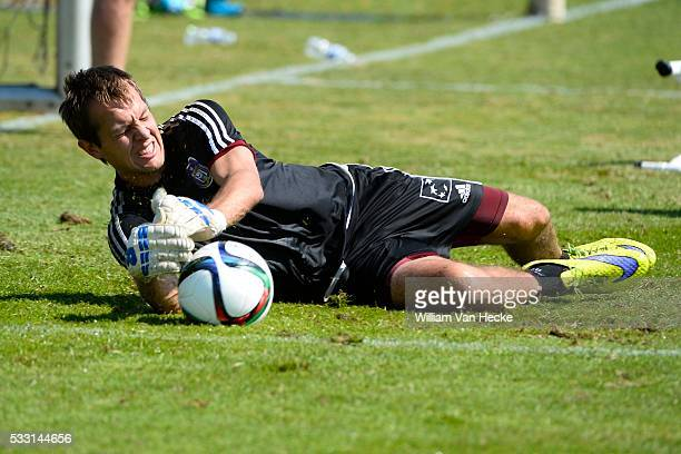 Roef Davy goalkeeper of Rsc Anderlecht pictured during the training session of RSC Anderlecht at the Irene Sportcomplex in Tegelen on juli 10 2015 in...