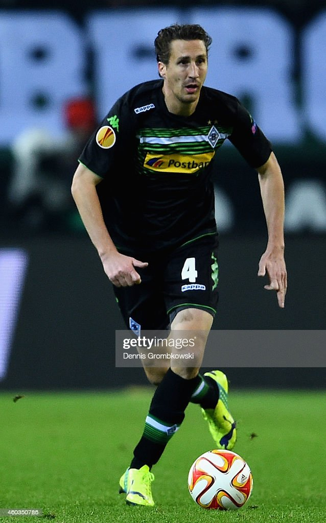 Roel Brouwers of Borussia Moenchenglabach controls the ball during the UEFA Europa League group stage match between VfL Borussia Moenchengladbach and...