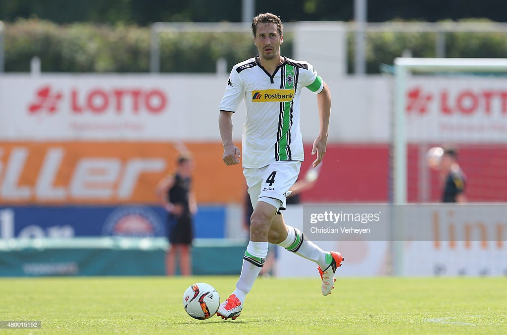 Roel Brouwers of Borussia Moenchengladbach controls the ball during the friendly match between TuS Koblenz and Borussia Moenchengladbach at Stadion...