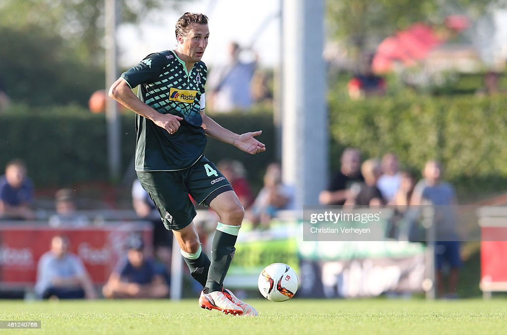 Roel Brouwers of Borussia Moenchengladbach controls the ball during the friendly match between Stade Rennes and Borussia Moenchengladbach at...