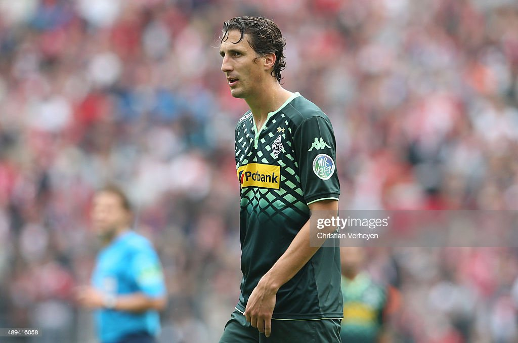 Roel Brouwers of Borussia Moenchengladbach during the Bundesliga match between 1 FC Koeln and Borussia Moenchengladbach at RheinEnergieStadion on...