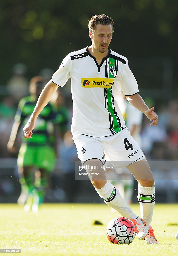 Roel Brouwers of Borussia Moenchengladbach in action during the Preseason Friendly between Borussia Moenchengladbach and Swansea at Grassau on July...