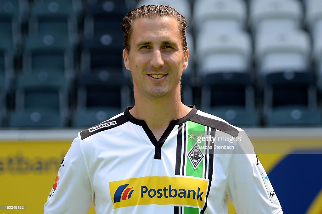 Roel Brouwers poses during the team presentation of Borussia Moenchengladbach at BorussiaPark on July 10 2015 in Moenchengladbach Germany