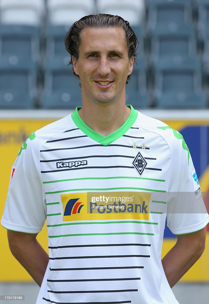 Roel Brouwers poses during the team presentation of Borussia Moenchengladbach on July 9 2013 in Moenchengladbach Germany