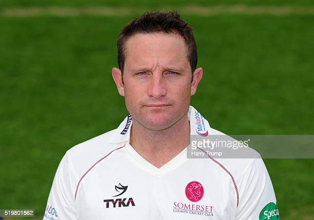 Roelof Van Der Merwe of Somerset during the Somerset CCC Photocall at the County Ground on April 8 2016 in Taunton England