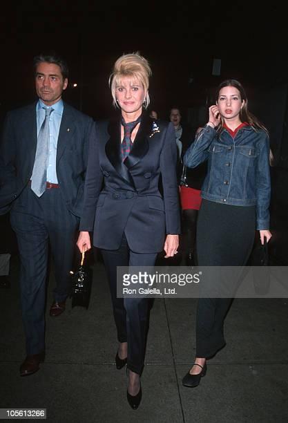 Roffredo Gaetani Ivana Trump and Ivanka Trump during Ivana Trump Sighting on Madison Avenue March 4 1999 at Madison Avenue in New York City New York...