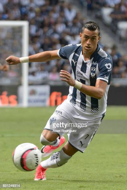 Rogelio Funes Mori of Monterrey drives the ball during the 4th round match between Monterrey and Chivas as part of the Torneo Apertura 2017 Liga MX...