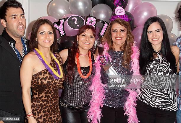 Rogelio Martinez Jackie Guerrido Diana Reyes Rosa Gloria Chagoyan and Scarlet Ortiz attend birthday celebration for Rosa Gloria Chagoyan at La Lupita...