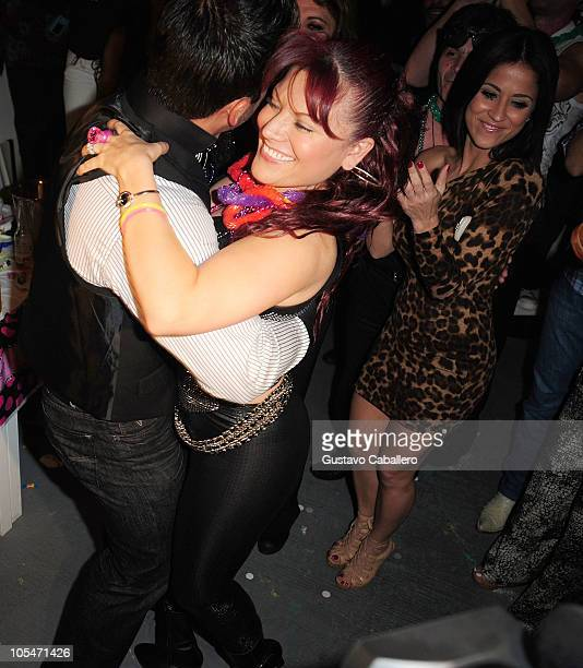 Rogelio Martínez and Diana Reyes attends birthday celebration for Rosa Gloria Chagoyan at La Lupita on October 14 2010 in Miami Florida