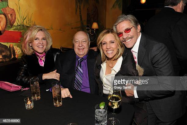Roger Ailes Alisyn Camerota and Geraldo Rivera attend Erica Rivera's 40th Birthday hosted by Geraldo Rivera at Monkey Bar on January 30 2015 in New...