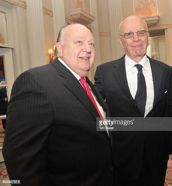 Roger Ailes at a dinner of the AntiDefamation League that honored Rupert Murdoch on Oct 13 at the Waldorf Astoria Hotel in New York NY
