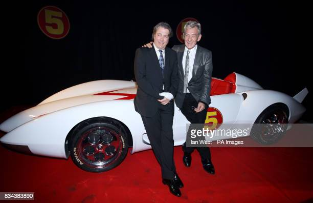 Roger Allam and Sir Ian McKellen attending the Speed Racer after premiere party at P3 University of Westminster London