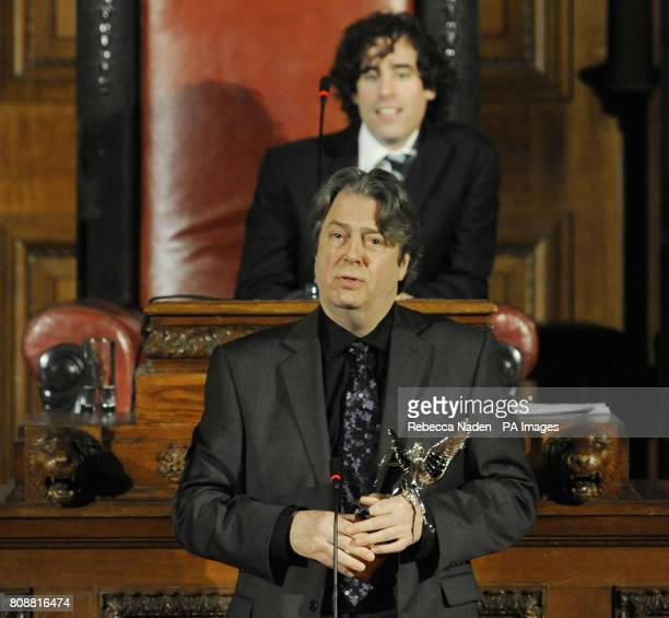 Roger Allam receives the Peter Sellers Award For Comedy at the London Evening Standard British Film Awards at the London Film Museum London