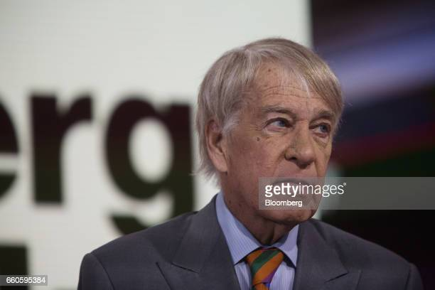 Roger Altman chairman and founder for Evercore Partners Inc listens during a Bloomberg Television interview in New York US on Thursday March 30 2017...