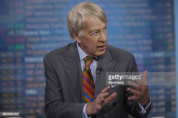 Roger Altman chairman and founder for Evercore Partners Inc speaks during a Bloomberg Television interview in New York US on Thursday March 30 2017...