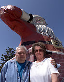 Roger and Lura Zeller owners of Adventure Gallery and TreasureChest who've seen business decline in the past 17 years on Santa Claus Lane in...