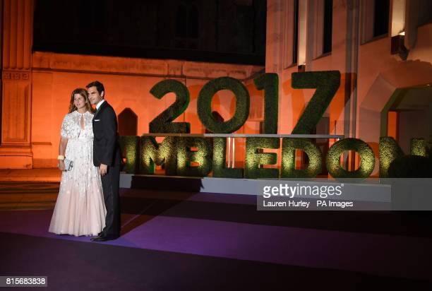 Roger and Mirka Federer arriving at the Wimbledon Champions Dinner 2017 at the Guildhall London