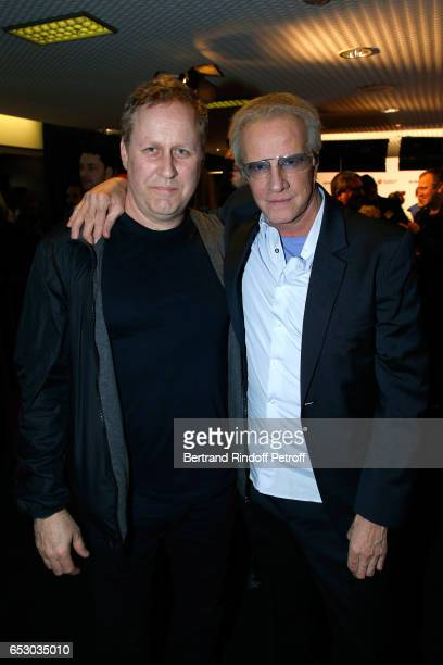 Roger Avary and Christophe Lambert attend the 'Chacun sa vie' Paris Premiere at Cinema UGC Normandie on March 13 2017 in Paris France