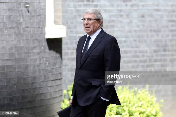 Roger Carr chairman of BAE Systems Plc arrives in Downing Street for a business advisory group meeting in London UK on Thursday July 20 2017 UK Prime...