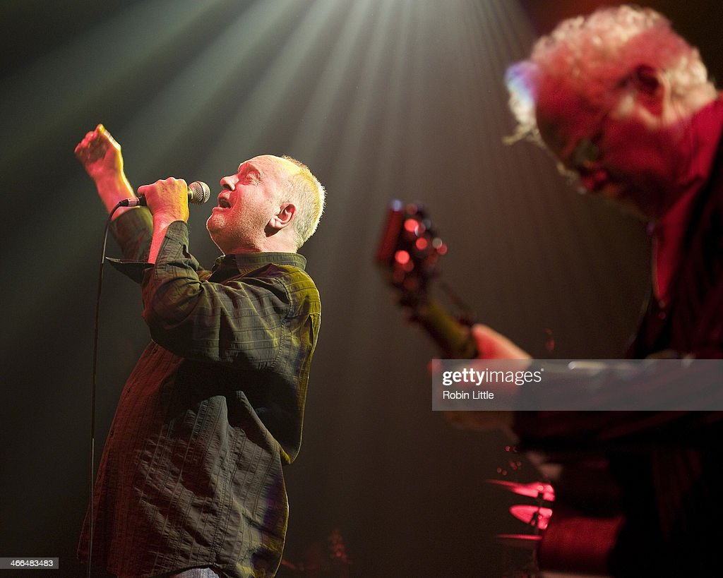Roger Chapman and Jim Cregan of Family perform on stage at Shepherds Bush Empire on February 1, 2014 in London, United Kingdom.