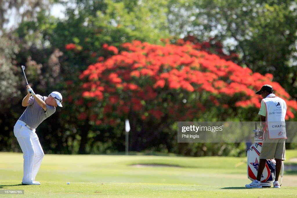 Roger Chapman of England in action during the second round of the MCB Tour Championship played at the Legends Course, Constance Belle Mare Plage on December 8, 2012 in Poste de Flacq, Mauritius.