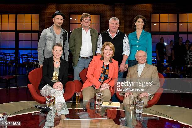 Roger Cicero Bela Rethy Heinz Hoenig Antonia Rados Mirja Boes Bettina Boettinger and Buddy Elias attend the 'Koelner Treff' TV Show at the WDR Studio...
