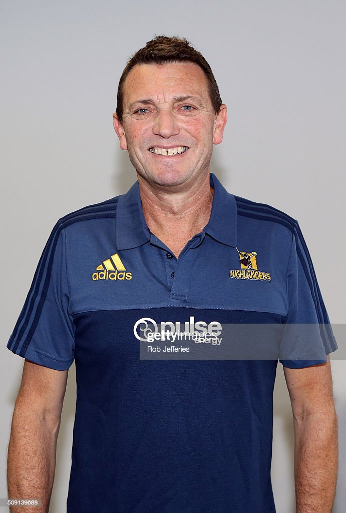 Roger Clark of the Highlanders poses for a photo during a Highlanders portrait session on February 9, 2016 in Dunedin, New Zealand.