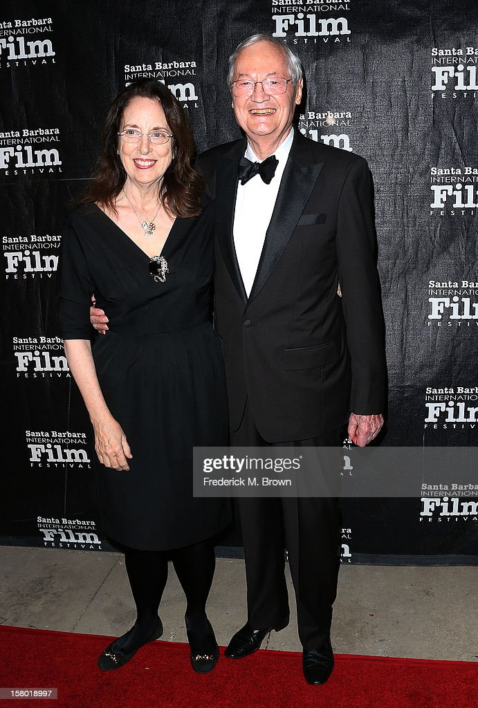 Roger Corman (R) and his wife attend the SBIFF's 2012 Kirk Douglas Award For Excellence In Film during the Santa Barbara Film Festival on December 8, 2012 in Goleta, California.