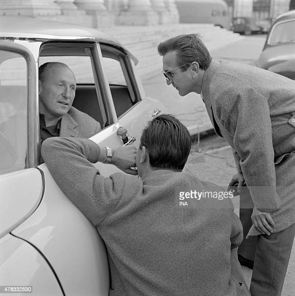Roger Couderc interviews Bourvil at the wheel of a DS