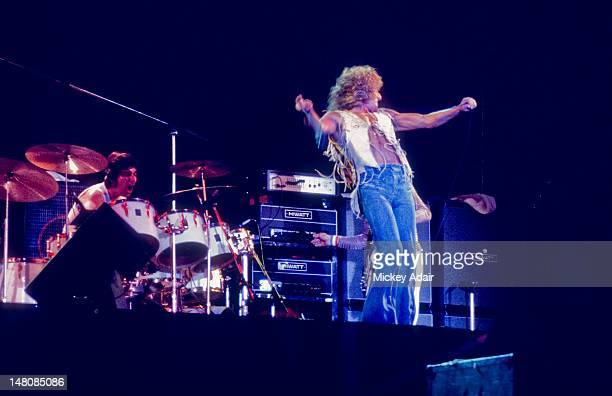 Roger Daltrey and Keith Moon perform with The Who at The Gator Bowl in Jacksonville FL on August 7 1976