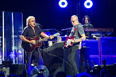 Roger Daltrey and Pete Townshend from The Who perform at Zenith de Paris on June 30 2015 in Paris France