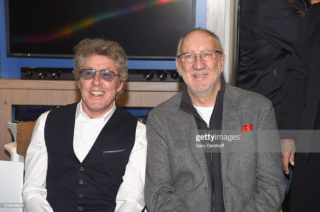 Roger Daltrey (L) and Pete Townshend of The Who attend the opening of Memorial Sloan Kettering Cancer Center's new Teen and Young Adult space The Lounge at Memorial Sloan Kettering Cancer Center on March 18, 2016 in New York City.