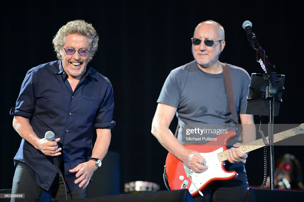 Roger Daltrey and Pete Townshend of The Who peform at Hyde Park on June 26, 2015 in London, United Kingdom