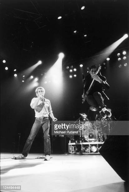 Roger Daltrey and Pete Townshend of The Who perform on stage UK 1982