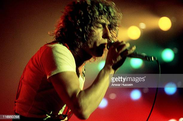 Roger Daltrey during Roger Daltrey of The Who in concert in 1976