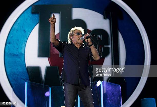Roger Daltrey from the Who headlines the Isle Of Wight Festival 2016 at Seaclose Park on June 11 2016 in Newport Isle of Wight