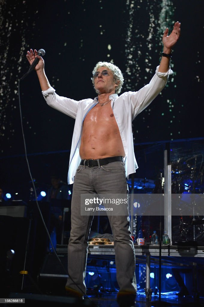 Roger Daltrey of The Who performs at '12-12-12' a concert benefiting The Robin Hood Relief Fund to aid the victims of Hurricane Sandy presented by Clear Channel Media & Entertainment, The Madison Square Garden Company and The Weinstein Company at Madison Square Garden on December 12, 2012 in New York City.