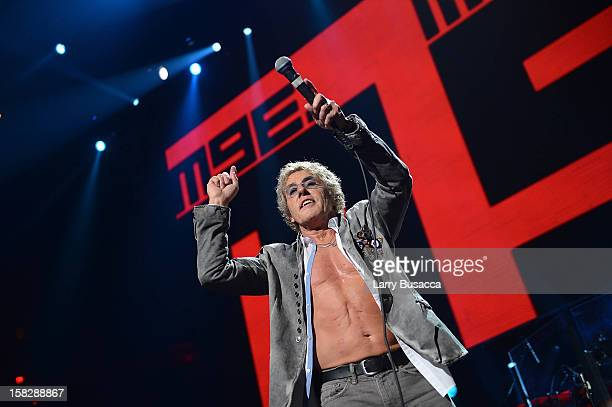 Roger Daltrey of The Who performs at '121212' a concert benefiting The Robin Hood Relief Fund to aid the victims of Hurricane Sandy presented by...