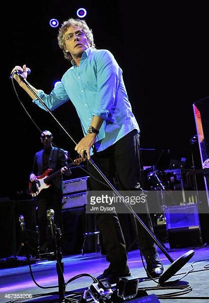 Roger Daltrey of The Who performs live on stage during the The Who Hits 50 Tour at The O2 Arena on March 22 2015 in London England