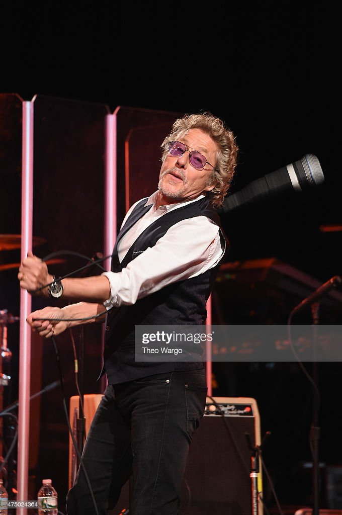 Roger Daltrey of The Who performs onstage during the MusiCares MAP Fund Benefit Concert at Best Buy Theater on May 28, 2015 in New York City. All proceeds from this concert will benefit the MusiCares MAP Fund, which provides members of the music community access to addiction recovery treatment regardless of their financial situation.