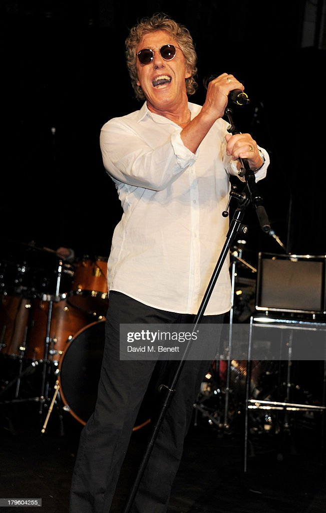 Roger Daltrey performs at the Queen AIDS Benefit in support of The Mercury Phoenix Trust at One Mayfair on September 5, 2013 in London, England.