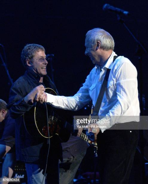 Roger Daltrey with Mark Knopfler during the Lonnie Donegan tribute concert at the Royal Albert Hall in central London Some of the biggest names in...